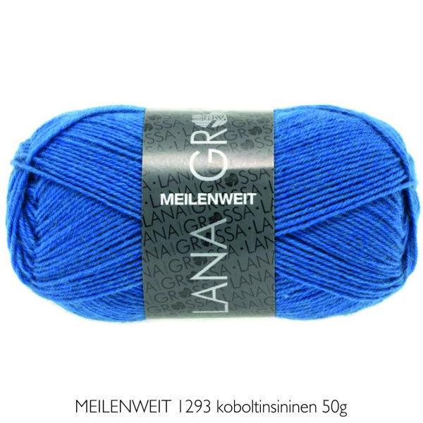 Villasukkalanka Lana Grossa MEILENWEIT 1293 koboltinsininen 50g