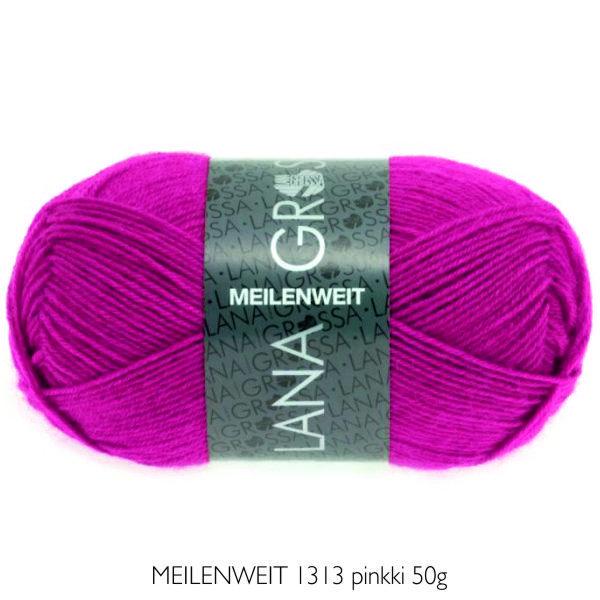 Villasukkalanka Lana Grossa MEILENWEIT 1313 pinkki 50g