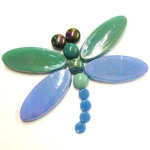 mosaiikki-sudenkorento-vihreäsininen