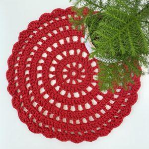 Piparireuna virkattu matto punainen joulu web2 Taito Shop Kankuri